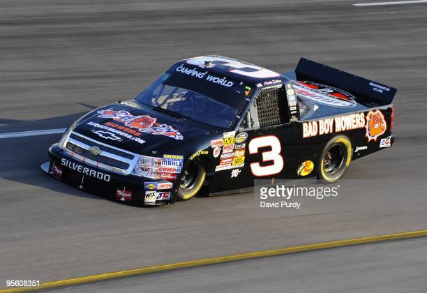Austin Dillion driver of the Silverado Cheverolet drives into turn number 2 during qualifying for the Lucas Oil 200 NASCAR Camping World Truck Series...