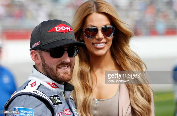 Austin Dillon and his fiancee prior to the Folds of Honor QuikTrip 500 NASCAR Monster Energy Cup Series race on March 5 at the Atlanta Motor Speedway...