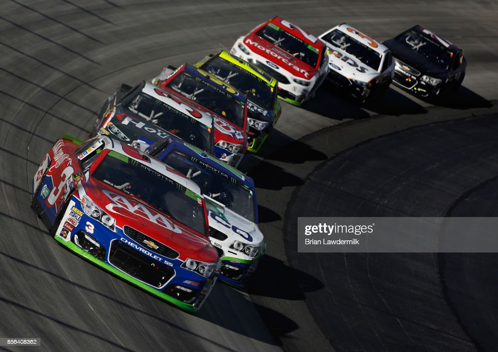 Austin Dillon, driver of the AAA Chevrolet, leads a pack of
