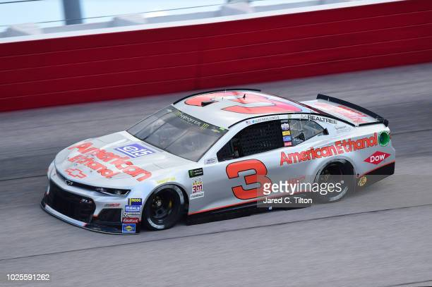 Austin Dillon driver of the American Ethanol e15 Chevrolet drives during practice for the Monster Energy NASCAR Cup Series Bojangles' Southern 500 at...