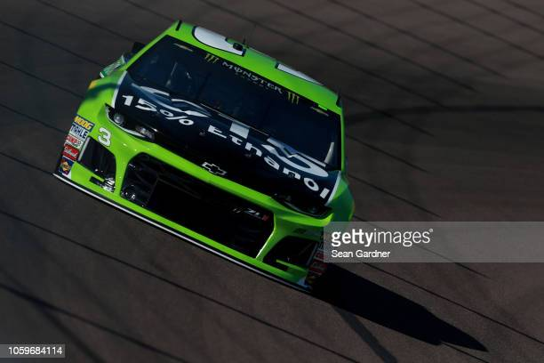 Austin Dillon driver of the American Ethanol e15 Chevrolet practices for the Monster Energy NASCAR Cup Series CanAm 500 at ISM Raceway on November 9...