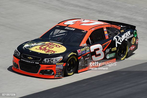 Austin Dillon driver of the Bass Pro Shops/Ranger Boats Chevrolet practices for the NASCAR Sprint Cup Series Food City 500 at Bristol Motor Speedway...