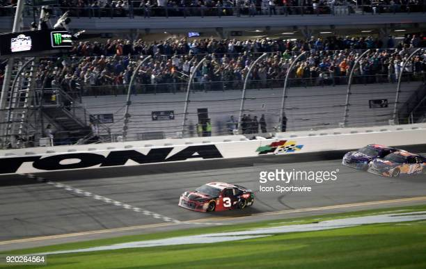 Austin Dillon Richard Childress Racing Dow Chevrolet Camaro during the running of the 60th Daytona 500 on Sunday February 182018 at Daytona...