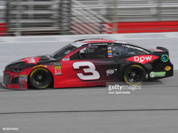 Austin Dillon Richard Childress Racing Dow Chevrolet Camaro during practice for the Monster Energy Cup Series Folds of Honor Quiktrip 500 on February...