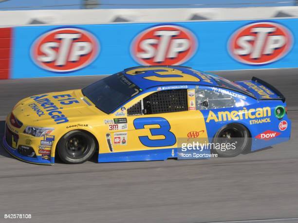 Austin Dillon Richard Childress Racing E15 American Ethanol Chevrolet SS races through the turns during the NASCAR Monster Energy Cup Series...