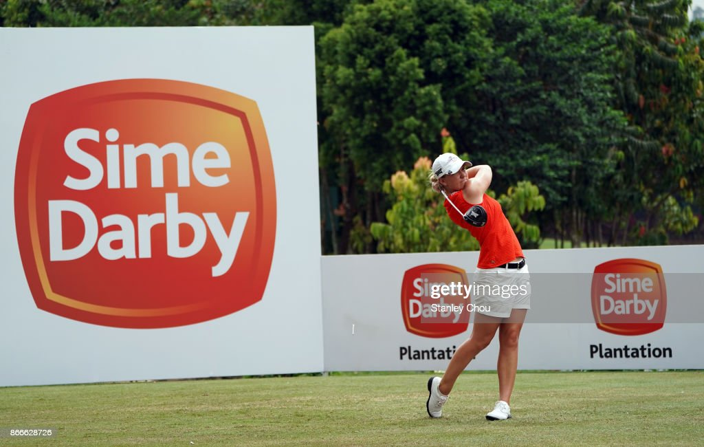 Austin Ernst of the United States in action during day one of the Sime Darby LPGA Malaysia at TPC Kuala Lumpur East Course on October 26, 2017 in Kuala Lumpur, Malaysia.