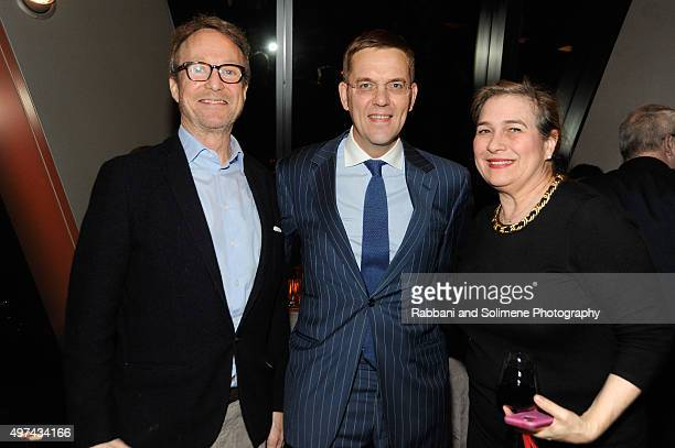 """Austin Hearst, Duncan Edwards and Lili Root attend as Stephen Hannock & Sting celebrate their new book """"The Last Ship"""" at Hearst Tower on November..."""