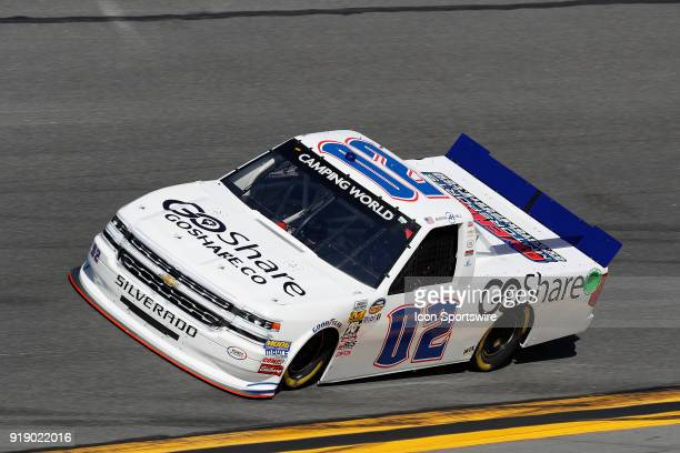 Austin Hill Young's Motorsports Chevrolet Silverado during practice for the NextEra Energy Resources 250 NASCAR Camping World Truck Series race on...