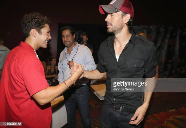 Austin Mahone and Enrique Iglesias attend the Thomas J Henry Celebrates The 25th Anniversary Of Thomas J Henry Attorneys at Henry B Gonzalez...