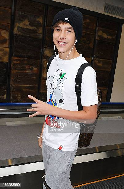 Austin Mahone arrives at Narita International Airport on May 28 2013 in Narita Japan