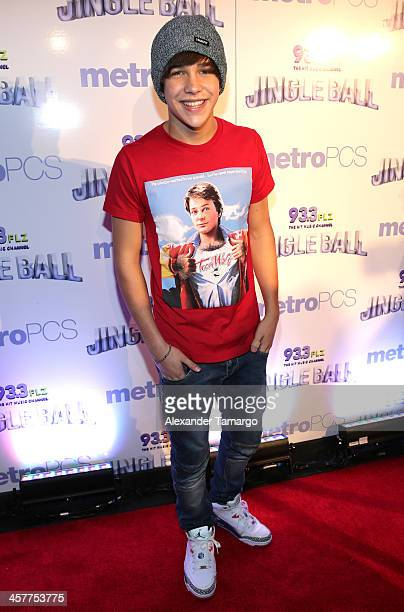 Austin Mahone attends 933 FLZ's Jingle Ball 2013 at the Tampa Bay Times Forum on December 18 2013 in Tampa Florida