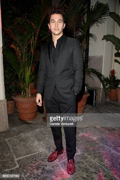 Austin Mahone attends Dolce Gabbana Queen Of Hearts Party show during Milan Fashion Week Spring/Summer 2018 at on September 24 2017 in Milan Italy