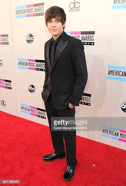 Austin Mahone attends the 2013 American Music Awards at Nokia Theatre LA Live on November 24 2013 in Los Angeles California