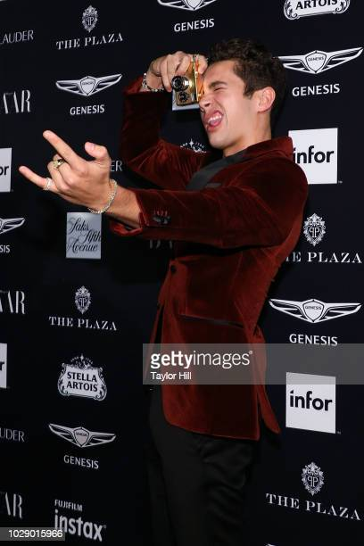 Austin Mahone attends the 2018 Harper's BAZAAR ICONS Party at The Plaza Hotel on September 7 2018 in New York City