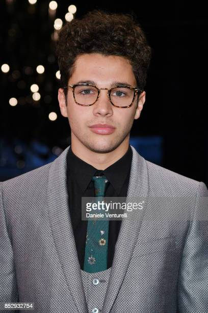 Austin Mahone attends the Dolce Gabbana show during Milan Fashion Week Spring/Summer 2018 on September 24 2017 in Milan Italy