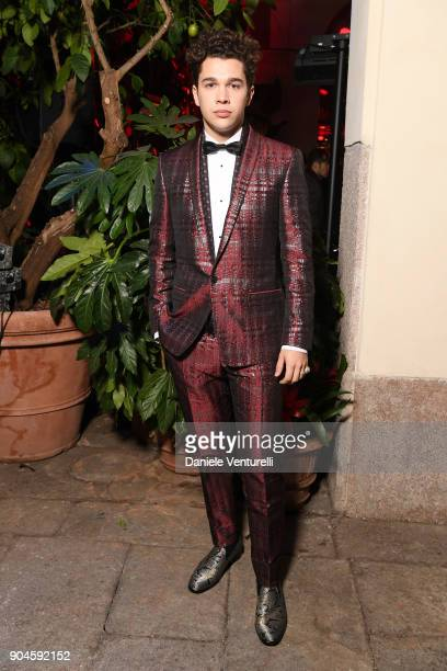 Austin Mahone attends the Dolce Gabbana Unexpected Show during Milan Men's Fashion Week Fall/Winter 2018/19 on January 13 2018 in Milan Italy