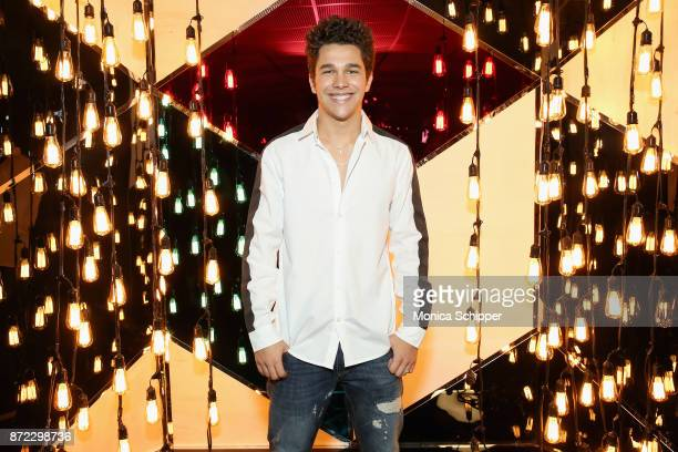 Austin Mahone attends the Fossil x Austin Mahone holiday event on November 9 2017 in New York City