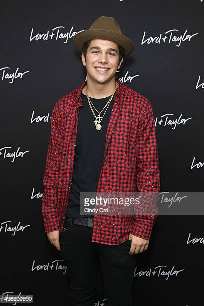 Austin Mahone Attends The Lord Taylor NYC 2015 Holiday Windows Unveiling With On November
