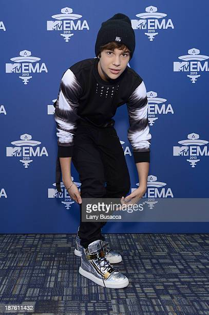 Austin Mahone attends the MTV 2013 UEMA US Telecast Meet Greet at Intrepid on November 10 2013 in New York City