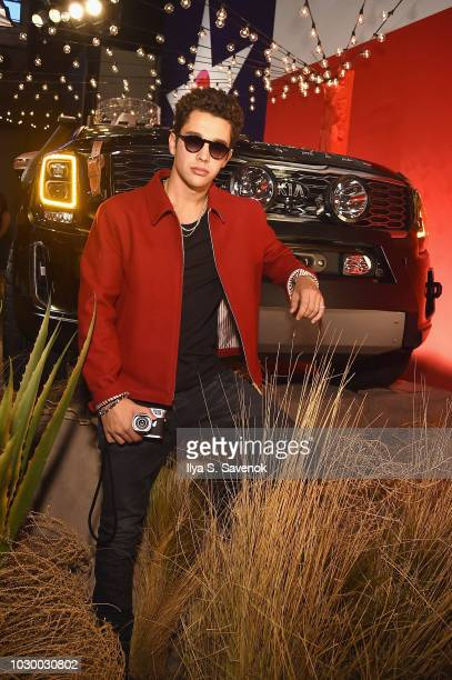 Austin Mahone attends the NYFW Brandon Maxwell Runway Show KIA Telluride launch at Classic Car Club Manhattan on September 8 2018 in New York City