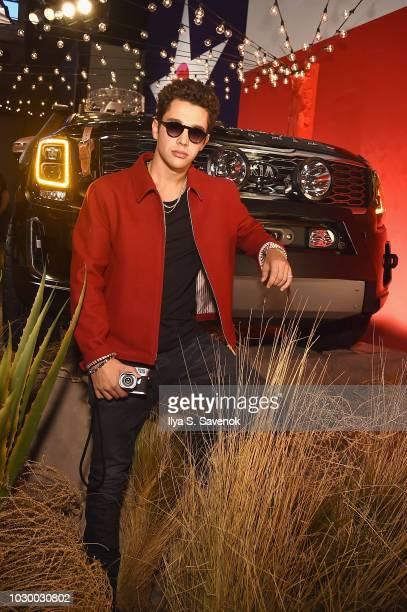 Austin Mahone attends the NYFW Brandon Maxwell Runway Show KIA Telluride launch at Classic Car Club Manhattan on September 8 2018 in New York City
