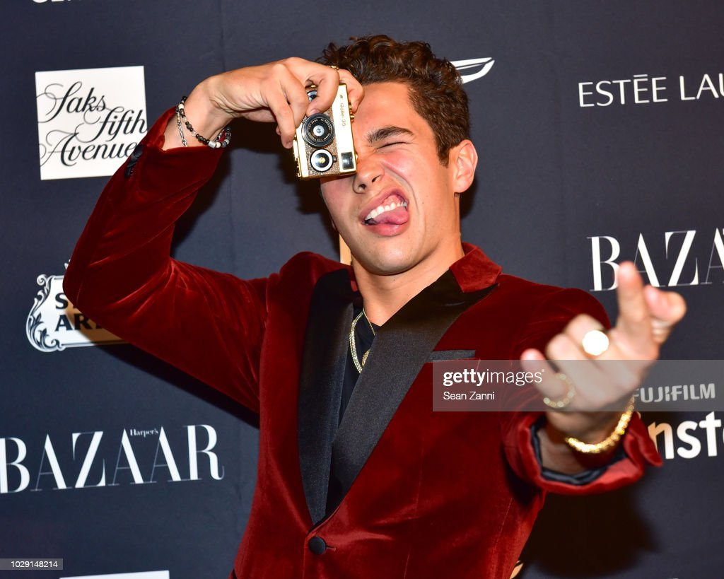 Austin Mahone attends The Worldwide Editors Of Harper's Bazaar Celebrate ICONS by Carine Roitfeld presented by Infor, Stella Artois, FUJIFILM, Estee Lauder, Saks Fifth Avenue and Genesis at The Plaza Hotel on September 7, 2018 in New York City.
