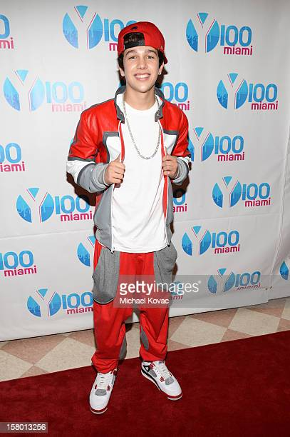 Austin Mahone attends the Y100's Jingle Ball 2012 at the BBT Center on December 8 2012 in Miami