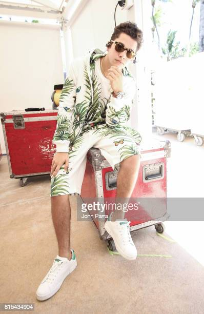 Austin Mahone backstage during the Y100 MackAPoolooza at Fontainebleau Miami Beach on July 15 2017 in Miami Beach Florida