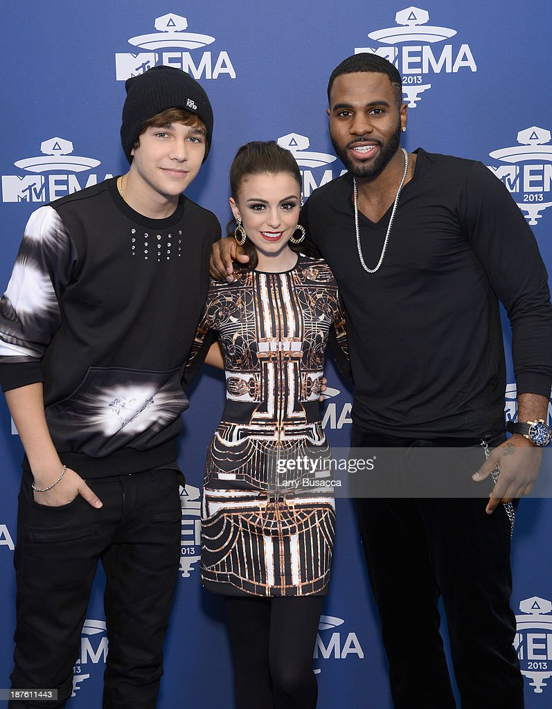 Mtv 2013 uema us telecast meet greet photos and images getty austin mahone cher lloyd and jason derulo attend the mtv 2013 uema us telecast meet m4hsunfo