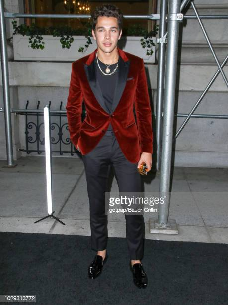 Austin Mahone is seen arriving at The Worldwide Editors of Harper's Bazaar Celebrate ICONS by Carine Roitfeld on September 07 2018 in New York City