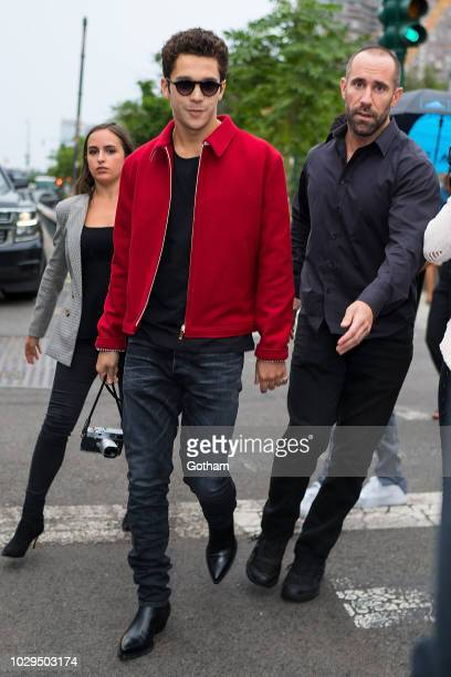 Austin Mahone is seen arrving for the Brandon Maxwell fashion show during New York Fashion Week in Midtown on September 8 2018 in New York City