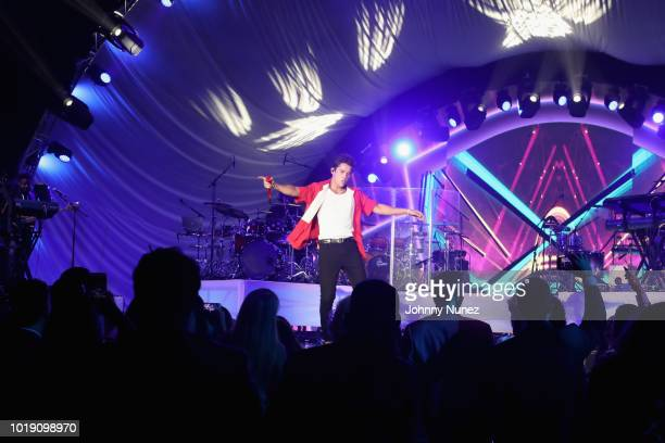 Austin Mahone performes onstage the Thomas J Henry Celebrates The 25th Anniversary Of Thomas J Henry Attorneys at Henry B Gonzalez Convention Center...