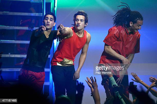 Austin Mahone performs at Orpheum Theater on March 7 2014 in Boston Massachusetts