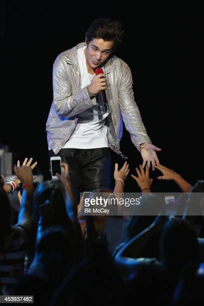 Austin Mahone performs at The Mann Center August 21 2014 in Philadelphia Pennsylvania