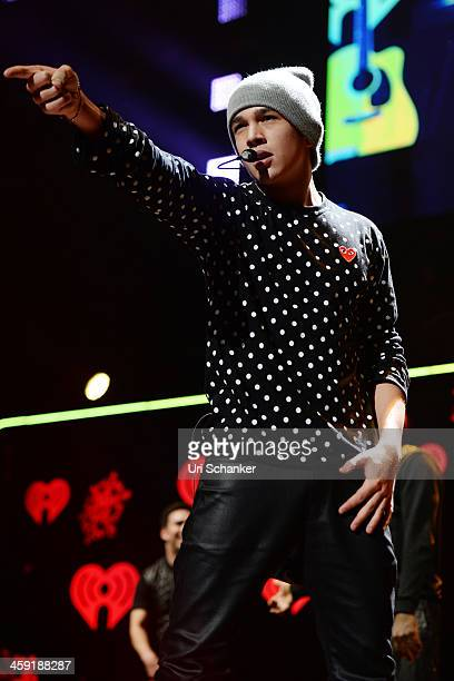 Austin Mahone performs at the Y 100 Jingle Ball Show at BBT Center on December 20 2013 in Sunrise Florida