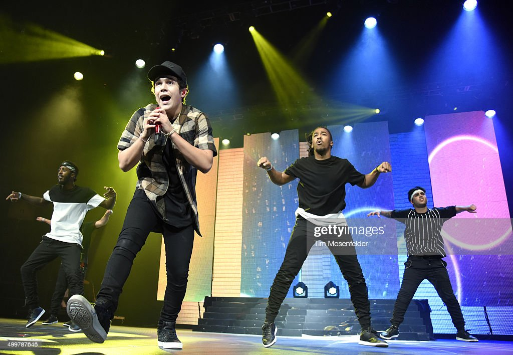 Austin Mahone performs during 99.7 NOW! Triple Ho Show 6.0 at SAP Center on December 2, 2015 in San Jose, California.