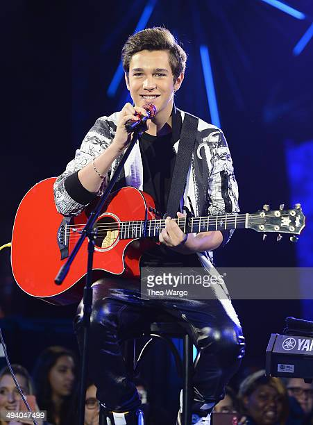 Austin Mahone performs during the Billboard Twitter RealTime Charts launch at The Diamond Horseshoe on May 27 2014 in New York City