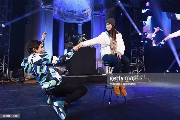 Austin Mahone performs onstage at the Aquafina FlavorSplash PepsiCo Super Bowl XLVIII celebration at Bryant Park on January 29 2014 in New York City