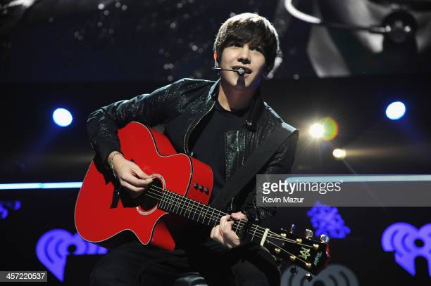 Austin Mahone performs onstage during Hot 995's Jingle Ball 2013 presented by Overstockcom at Verizon Center on December 16 2013 in Washington DC