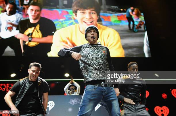 Austin Mahone performs onstage during Power 961's Jingle Ball 2013 at Philips Arena on December 11 2013 in Atlanta Georgia