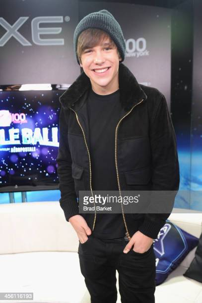 Austin Mahone poses backstage at Z100's Jingle Ball 2013 presented by Aeropostale at Madison Square Garden on December 13 2013 in New York City