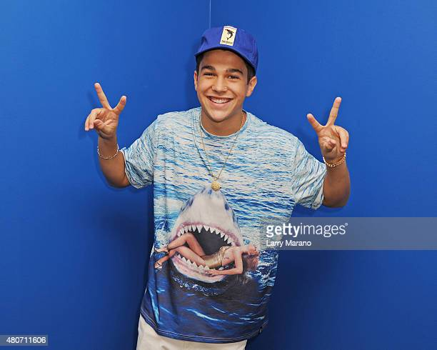 Austin Mahone poses for a portrait at Radio Station Y100 on July 14 2015 in Miami Florida