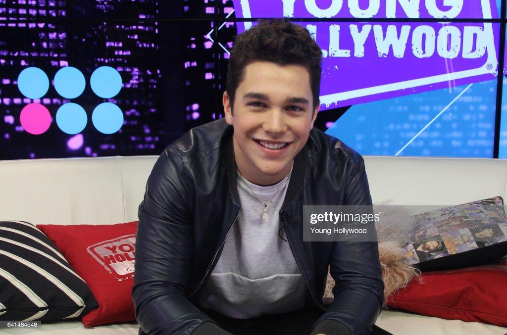 Austin Mahone Visits Young Hollywood Studio