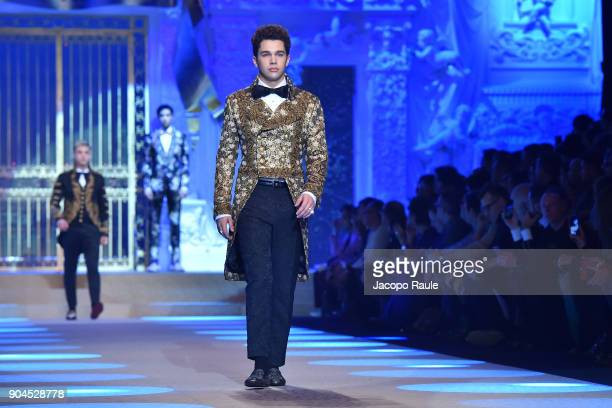 Austin Mahone walks the runway at the Dolce Gabbana show during Milan Men's Fashion Week Fall/Winter 2018/19 on January 13 2018 in Milan Italy