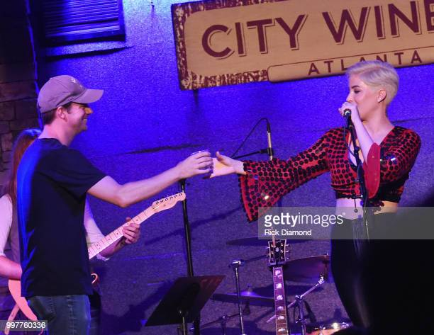 Austin Marshall and Maggie Rose at City Winery Atlanta on July 12 2018 in Atlanta Georgia