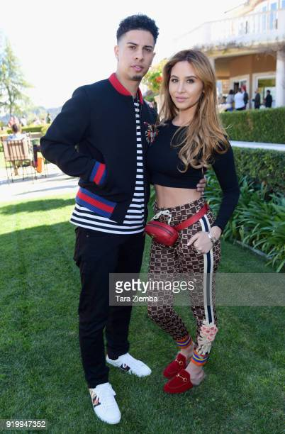 Austin McBroom and Catherine Paiz attend ChaCha The Wave And Jamie Foxx Foundation's 1st Annual Charity Celebrity Basketball Game at Private...