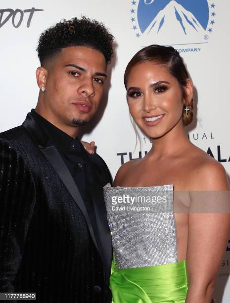 Austin McBroom and Catherine Paiz attend Thirst Project's 10th Annual Thirst Gala at The Beverly Hilton Hotel on September 28 2019 in Beverly Hills...