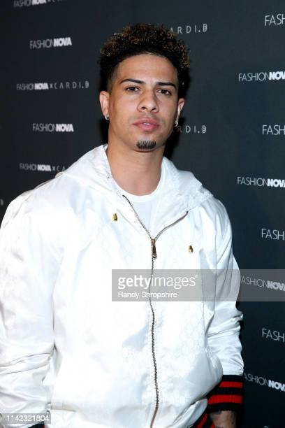 Austin McBroom arrives as Fashion Nova Presents Party With Cardi at Hollywood Palladium on May 8 2019 in Los Angeles California