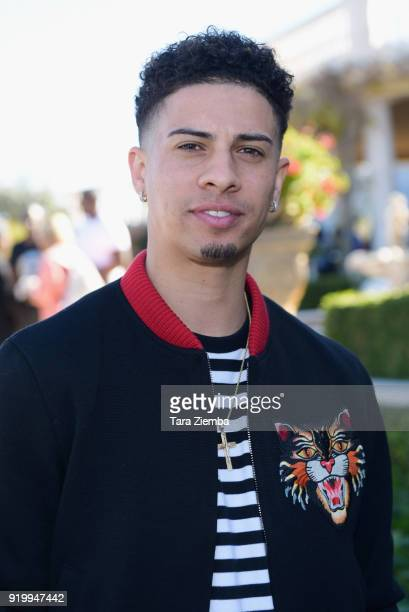 Austin McBroom attends ChaCha The Wave And Jamie Foxx Foundation's 1st Annual Charity Celebrity Basketball Game at Private Residence on February 17...