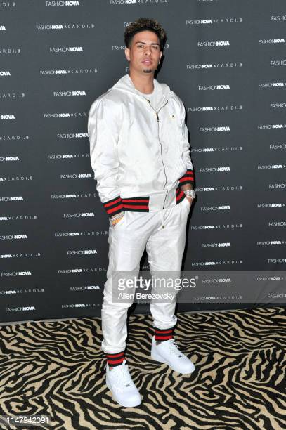 Austin McBroom attends Fashion Nova x Cardi B Collection launch party at Hollywood Palladium on May 08 2019 in Los Angeles California